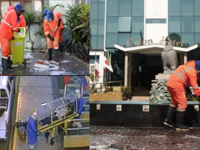 Miraflores: desinfectan hotel donde se reportó presunto caso de coronavirus