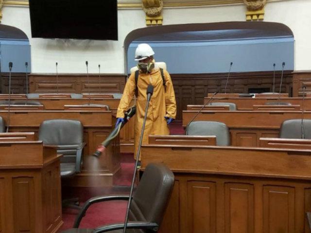 Mesa Directiva del Congreso suspende reuniones hasta el 13 de abril a causa de casos positivos