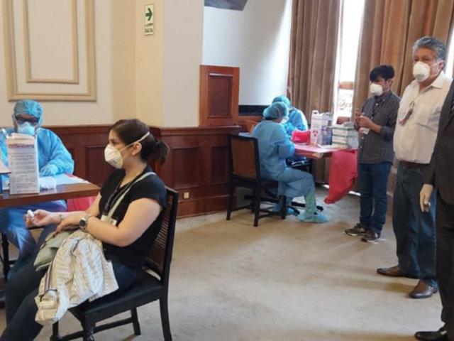Coronavirus: congresistas y trabajadores fueron sometidos a pruebas rápidas
