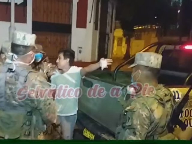 "Iquitos: joven pide a militares que le tiren ""cocacho"" por salir durante toque de queda"
