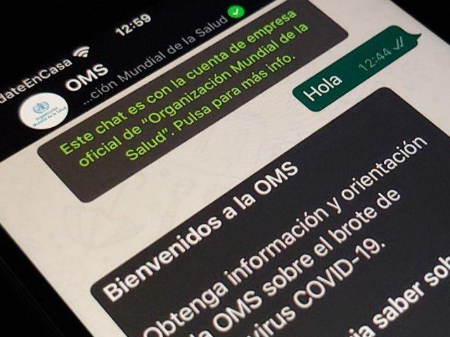 Bot de la OMS que resuelve dudas sobre el coronavirus ya está disponible en español