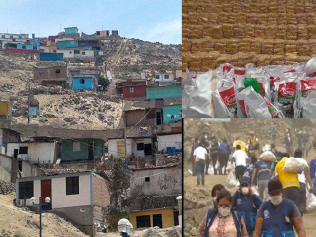 Coronavirus en Perú: Contraloría supervisa entrega de canastas de víveres
