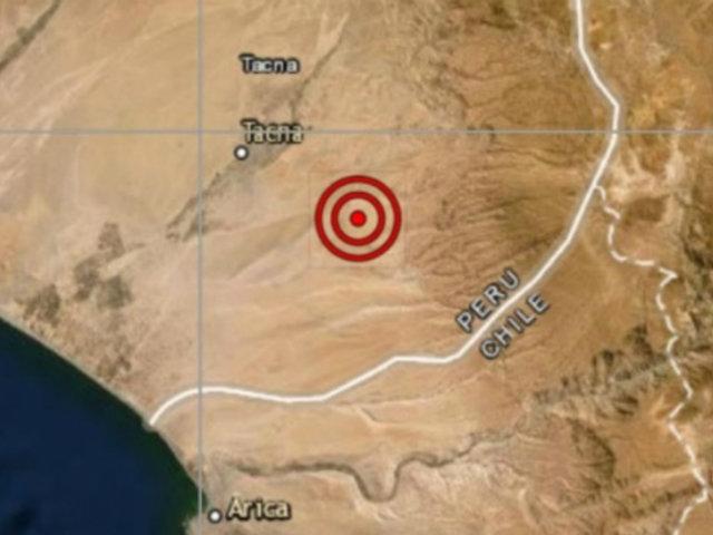 Sismo de magnitud 5 se registró esta mañana en Tacna