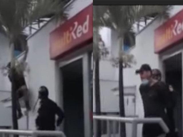 Estado de Emergencia: PNP detuvo a sujeto que intentó robar en el Banco de la Nación