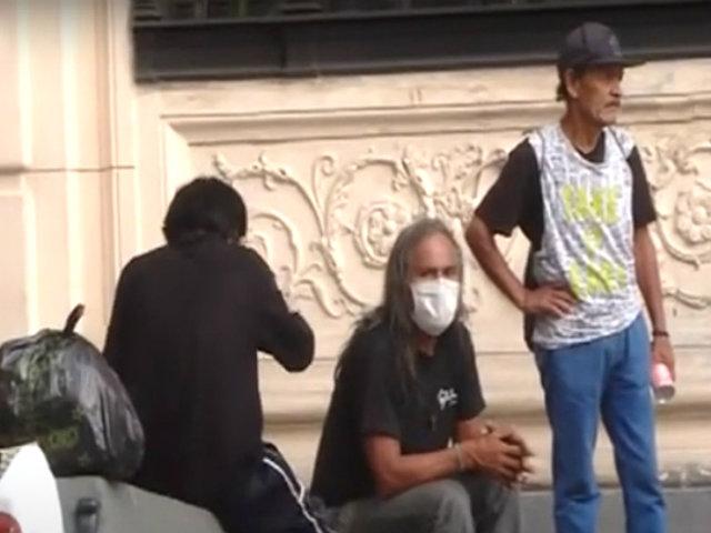 Estado de emergencia: Municipalidad de Lima reparte desayunos a indigentes