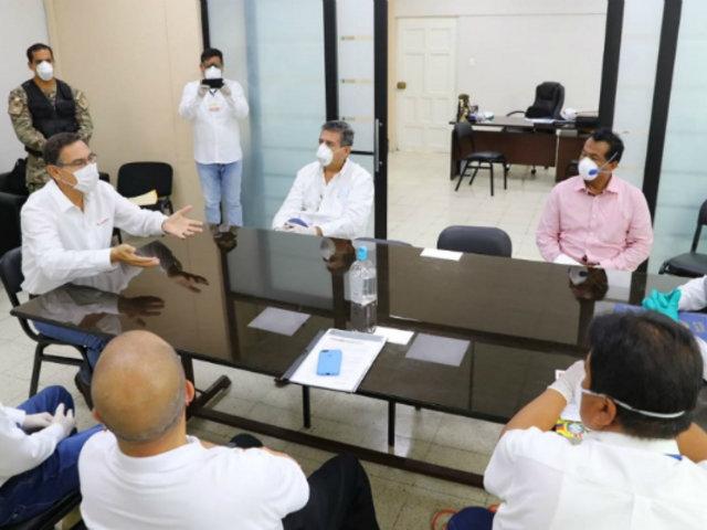 Presidente Martín Vizcarra evalúa estado de emergencia en Tumbes