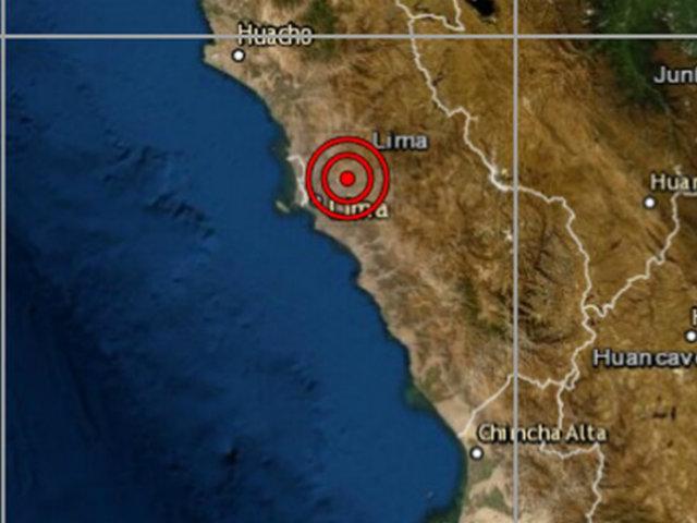 Sismo de magnitud 3.9 sacudió Chosica esta tarde