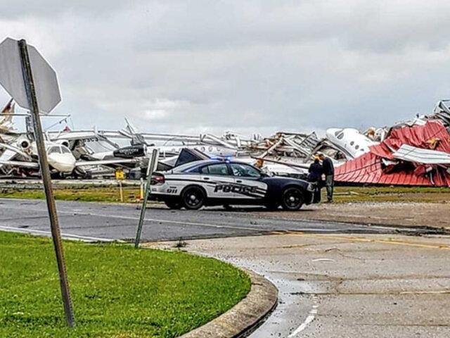 Al menos 11 muertos  dejó una serie de tornados en EEUU