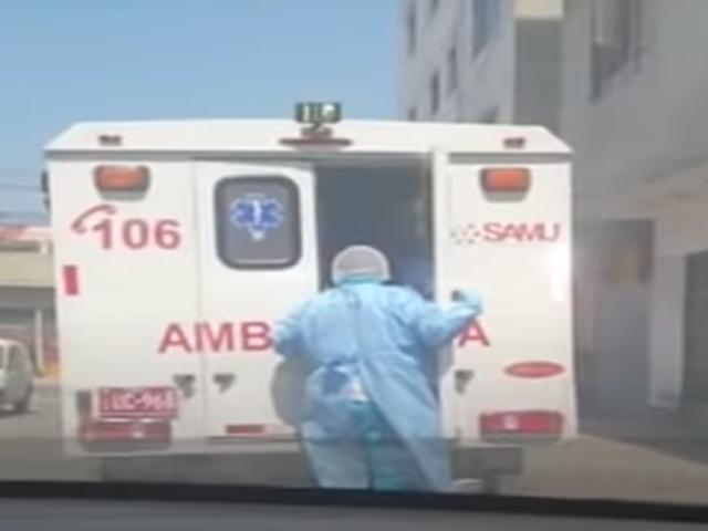 Familiares denuncian que ambulancia del SAMU abandonó a uno de sus miembros en la calle