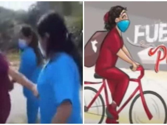 Enfermeras y Obstetra arriesgan sus vidas cruzando el río hacia su centro de trabajo