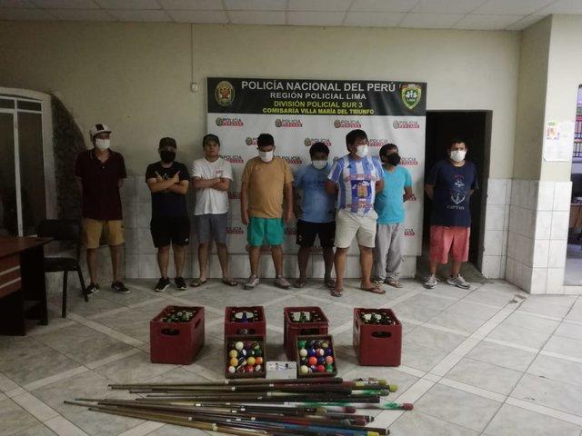 VMT: detienen a un grupo de personas que desacataron cuarentena para jugar billar