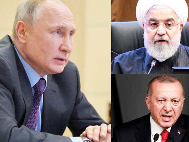 Vladimir Putin conversa con su pares de Irán y Turquía sobre la pandemia