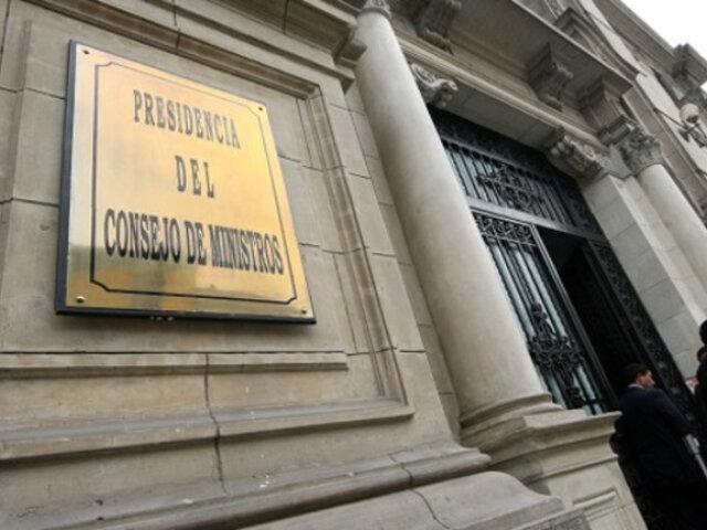 PCM respondió cuestionamientos de la bancada Renovación Popular