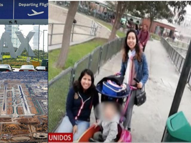 Peruano y su pequeño hijo están varados en los Ángeles