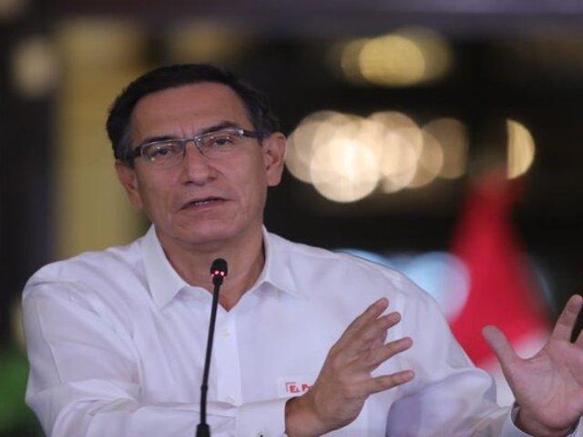"""Martín Vizcarra: """"Corresponde apoyo solidario a otros poderes del Estado"""""""