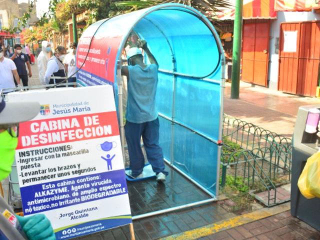 Jesús María: implementan módulos de desinfección para evitar transmisión de la COVID-19
