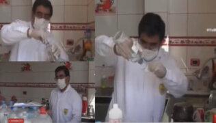 Chimbote: químico farmacéutico elabora jabones antibacteriales para apoyar lucha contra el COVID-19