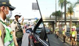 Nuevo Pase Vehicular: se realiza operativo policial en la avenida Javier Prado