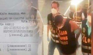 PNP captura a sujetos que estafaban con la venta de material médico