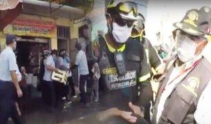 Desalojan a ambulantes de la avenida Avelino Cáceres en Huaycán