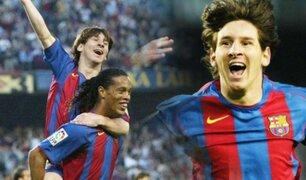 Lionel Messi: se cumplen 15 años de su primer gol con el Barcelona