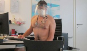 Alemania: médicos protestan desnudos ante falta de equipos de protección para luchar contra COVID-19