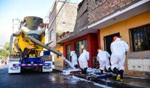 Municipalidad de Lima limpió y desinfectó asentamientos humanos del Cercado