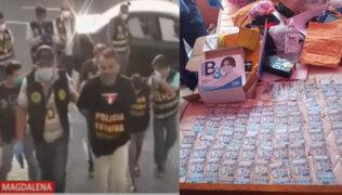 Detienen a sujetos que estafaron por 100 mil soles a empresarios con venta de guantes y mascarillas