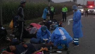 Barranca: Camión mata a dos venezolanos que regresaban a su país a pie