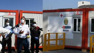 Mininter inspecciona avances de hospital de campaña para atención de policías con Covid-19