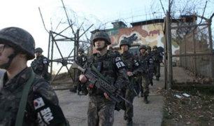 Reportan intercambio de disparos en puesto fronterizo que separa las dos Coreas