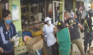 Ate Vitarte: ambulantes se enfrentan a serenazgo con cuchillos y palos