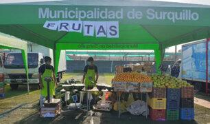 Estado de emergencia: mercado itinerante en Surquillo ofrece productos a bajos precios