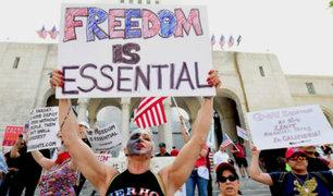 Coronavirus en EEUU: cientos protestan para el fin de las restricciones del gobierno
