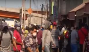 Estado de emergencia: población en riesgo por no respetar medidas en mercados