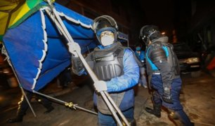 Cercado de Lima: desalojan a más de 100 ambulantes que habían tomado vía pública