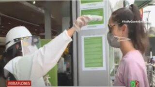 Miraflores: Implementan medidas de seguridad en supermercado por el Covid-19
