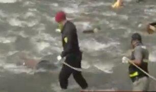 Hombre fallece tras lanzarse al río al no querer ser capturado por Policías