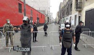 Personal edil fue movilizado a Mesa Redonda para reforzar vigilancia ante pandemia del COVID-19