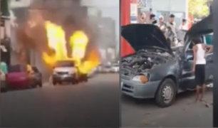 Venezuela: autos explotan porque conductores utilizaron balón de gas para hacerlos andar