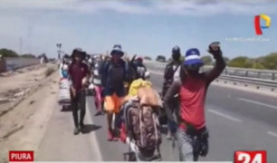 Más de una semana vienen caminando un grupo de venezolanos para retornar a su país