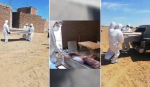 Lambayeque: abandonan ataúd con cadáver de paciente sospechoso de Covid-19