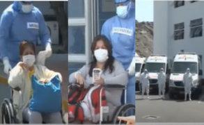 Diez pacientes con COVID-19 del hospital San Isidro Labrador de EsSalud recibieron el alta médica