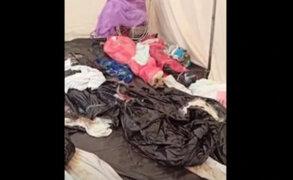 De horror: vídeo muestra cómo los cadáveres se encuentran hacinados en carpa del Hospital Loayza