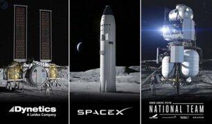 Así son las naves con las que la NASA quiere viajar a la Luna