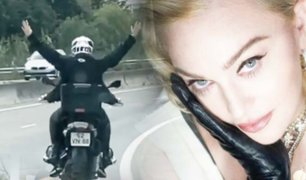 Madonna supera el coronavirus y lo celebra con un paseo en moto