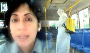 """Contraloría: """"desinfección de buses es deficiente y carece de supervisión"""""""