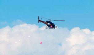Arequipa: Virgen de Chapi hace tradicional recorrido en helicóptero