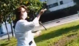Miraflores: mujer violó inamovilidad para hacer pago a la tierra