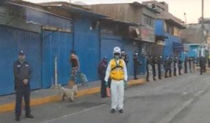 SJL: desalojan ambulantes de mercado 1° de Setiembre